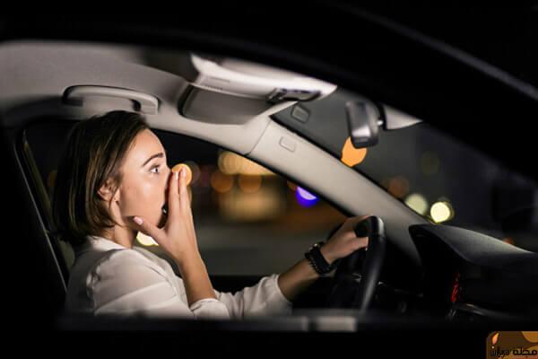 تفسير وقوع حادث السيارة للعزباء